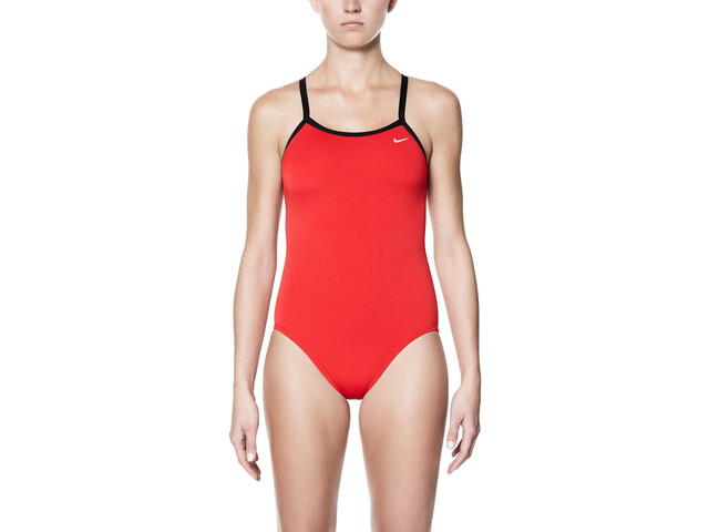 Nike Swim Poly Core Solid Racerback One Piece Dam university red